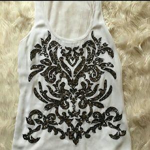 🌺 Express dressy, sequins tank